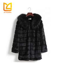 2017 Wholesale top brand quality long women sable natural genunie fox fur coat