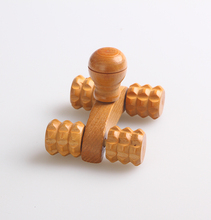 China manufacturer high quality hand held wooden roller massager