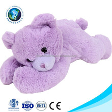 Meet EN71 customized baby blanket with plush lavender bear fashion soft cute purple cotton baby blanket toy