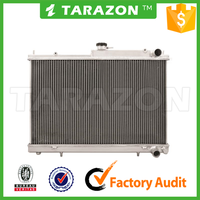 Aluminum Dual Core 2 Row Car Radiator For Skyline R33