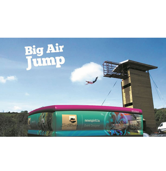 Inflatable Stunt Jump Air Bag With Jump Platform