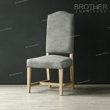 Most Popular Fabric Tufted Style Ergonomic Oak Dining chair