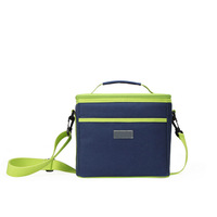 Fashion design cooler box/lunch bag with light blue color