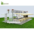 40 GP DIY hydraulic opening container coffee shop with outdoor retail juice kiosk furniture