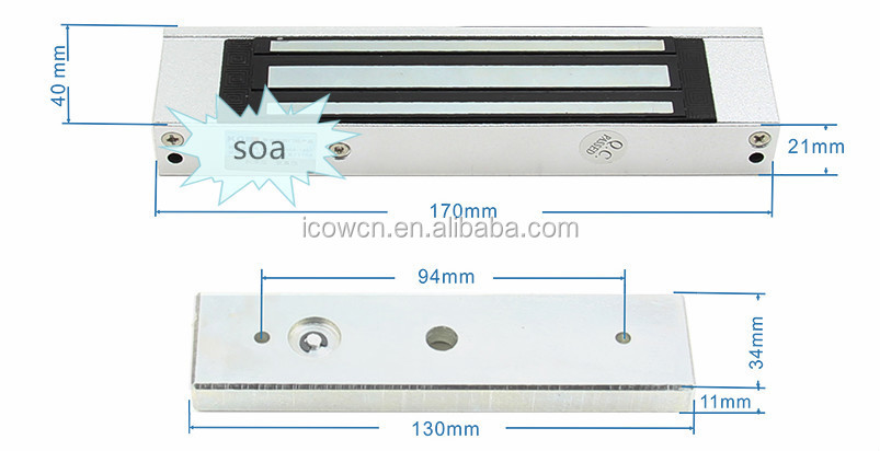 180KG 350lbs Hot selling signal output for sliding door aluminum hidden magnetic lock automatic sliding door lock