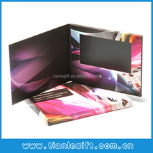 "4.3"" lcd invitation lcd video greeting card, lcd video display brochure"