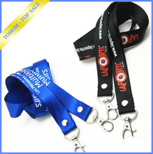 New popular polyester printed custom lanyard free sample