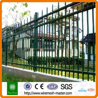 China manufacturer tubular apartment solid steel fence