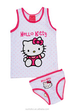 New hot -sales style with hello kitty cartoon for children vest underwear