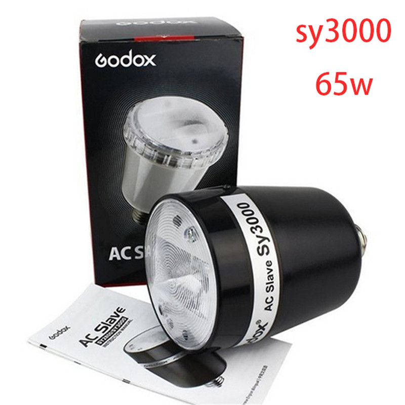 Godox SY3000 AC Slave Flash Strobe Light 55w E27 110V