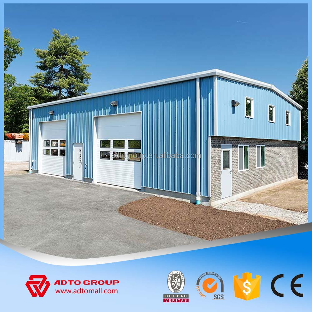 Factory Supply Custumized Light Steel Workshop Prefab Construction Corrugated Steel Building