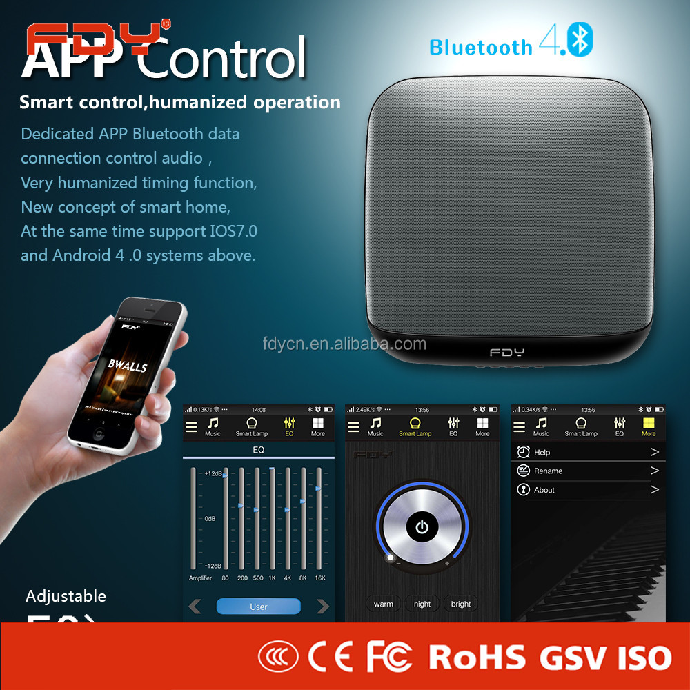 Bluetooth wall speakers, FM radio led bluetooth home cinema