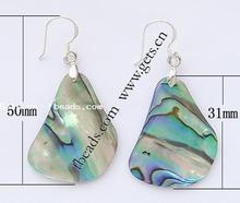 abalone shell basketball wives earring poparazzi