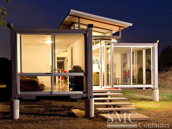 prefabricated aluminum glass house