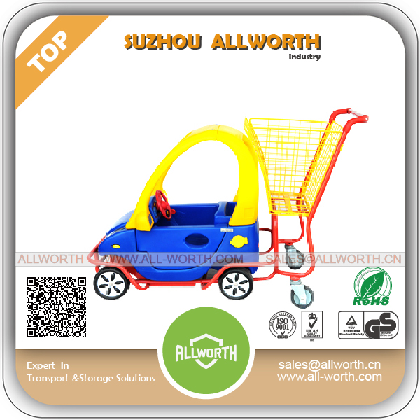 Store Fixture Hypermarket Supermarket Shopping Trolley for Kids