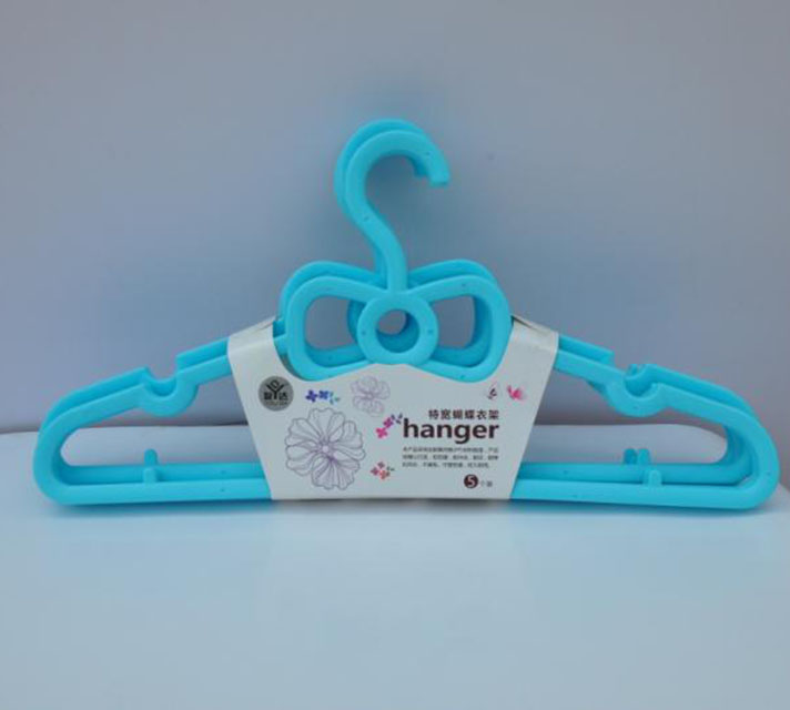 Home use space saver children clothes plastic hanger