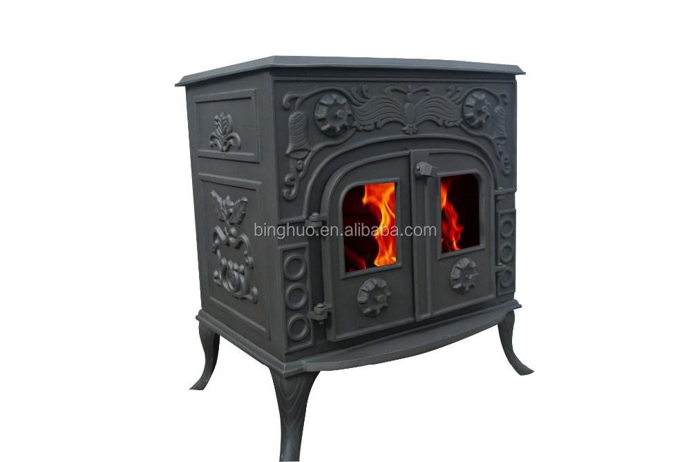 double door cast iron wood burning stove log burner buy. Black Bedroom Furniture Sets. Home Design Ideas