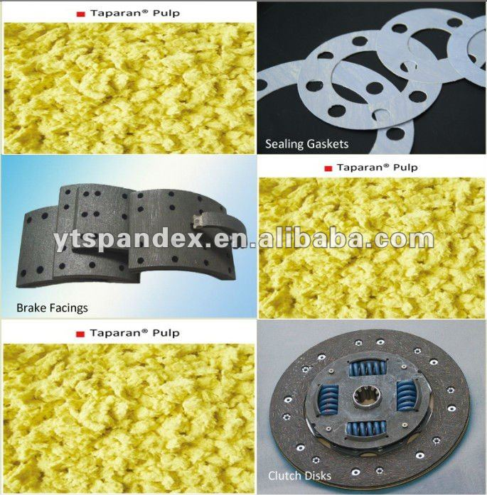 Taparan Para aramid pulp for sealing area