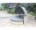 New Design Hot Sale Wicker Sofa Bed, Round Rattan Daybed