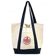OEM Custom Tote Pouch Big Shopper Bag Canvas Grocery Shopping Bag