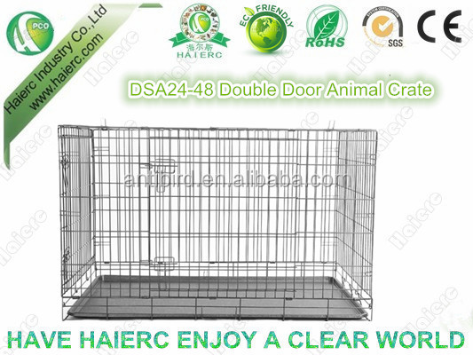 Double Doors Foldable Animal Cage Dog Crate Kennel (DSA48)