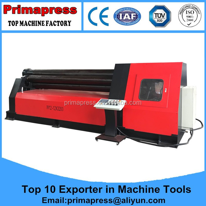 Economical <strong>W11</strong> -12X4000 Mechanical 3 Roll plate bending machine With Simple Operation