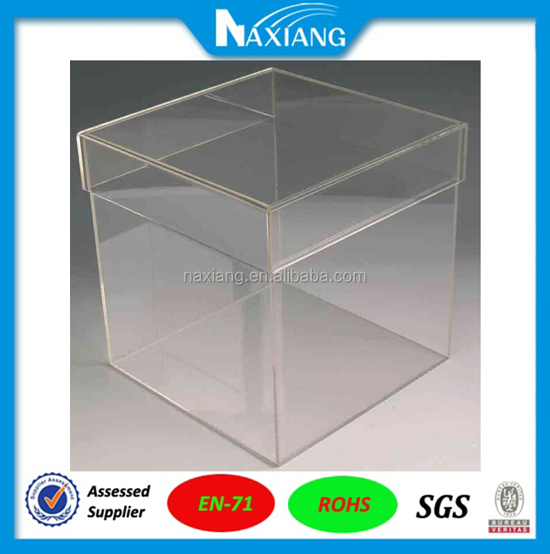 Import Material High Clear Transparent Model Ship Acrylic Display Cases in High Quality