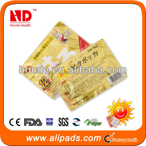 instant heat body warm patch with CE ISO FDA