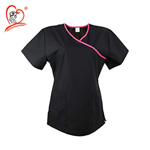 Jonathan Uniform Women's Tunic Mock Wrap Hospital Medical Workwear Scrub Top