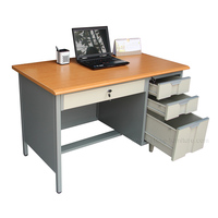 Functional Steel Office Computer Desks with Locking Drawers
