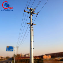 132kv steel power transmission line tower with steel pole