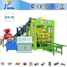 QTY6-15C automatic cement brick making machine / machines to make bricks concrete / concrete block compressive strength