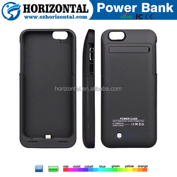 Most popular phone case and power bank 2 in 1 portable battery charger for ip6