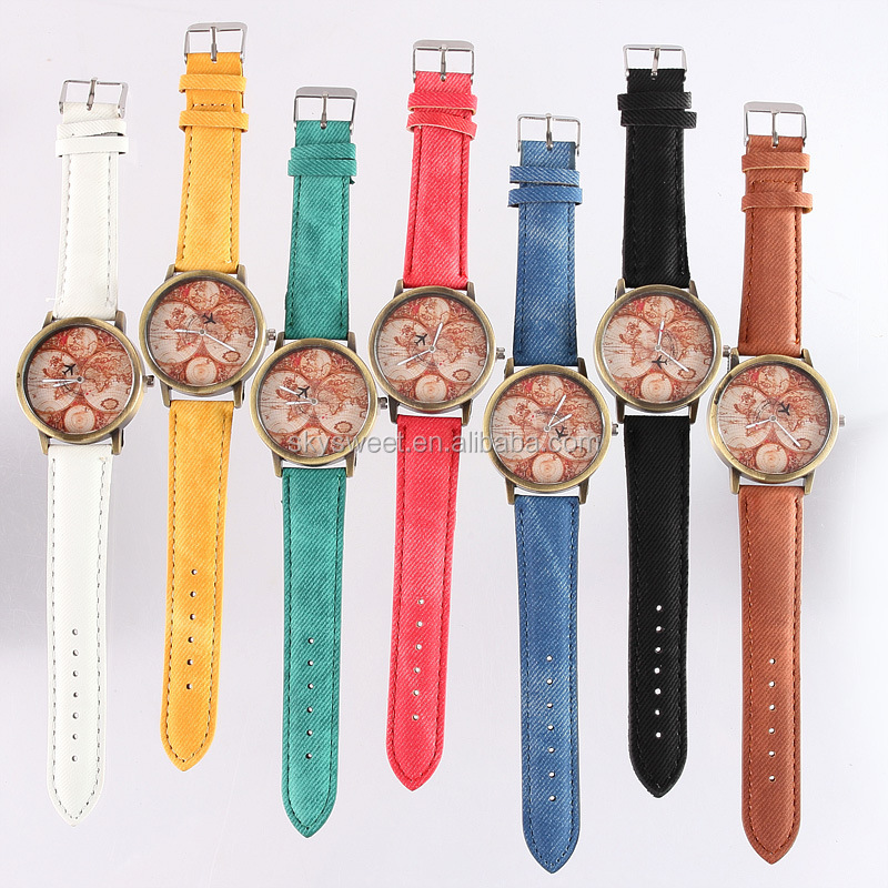 made in china watch manufacturer, hot sale italy trendy cheap map watches