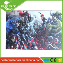 Eco-friendly OEM creative cartoon canvas printing wall art canvas printing