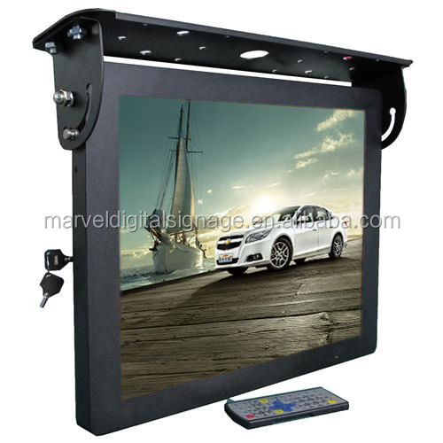 22 inch 3g/wifi lcd display bus advertising media screen bus mount ad player