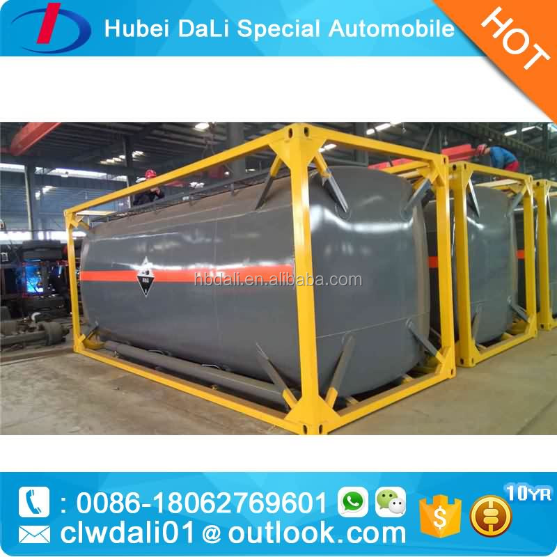 20feet transport tank for sulphuric acid and hydrochloric acid caustic soda ammonia water sodium hypochlorite
