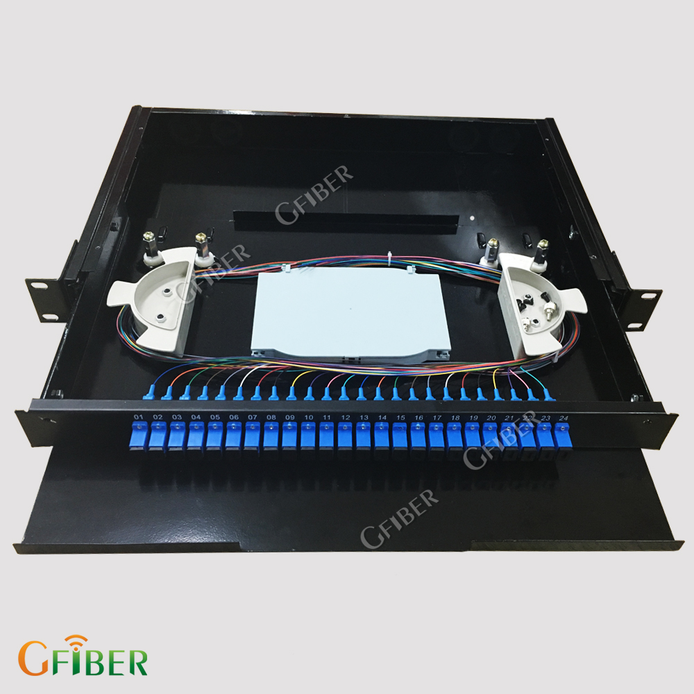 [Gfiber] 12 core 19 inch rack mount patch panel Rotary fiber optic ODF