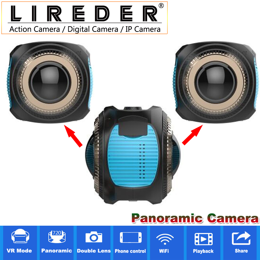 LIREDER 2017 New panorama camera 360 D720 Panorama Dual Lens WiFi Action Sport Camera