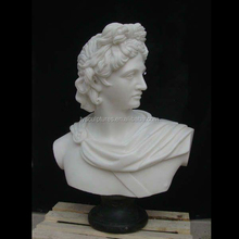 Famous stone head bust white marble Apollo marble bust for decoration