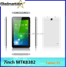 7inch Tablet PC MTK8382 frequency band 2G GSM 850/900/1800/1900 + 3G WCDMA 850+1900+2100