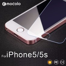 Mocolo Popular Mobile Phone Accessories High Transparency 9H 2.5D Tempered Glass Screen Protector For Iphone 5