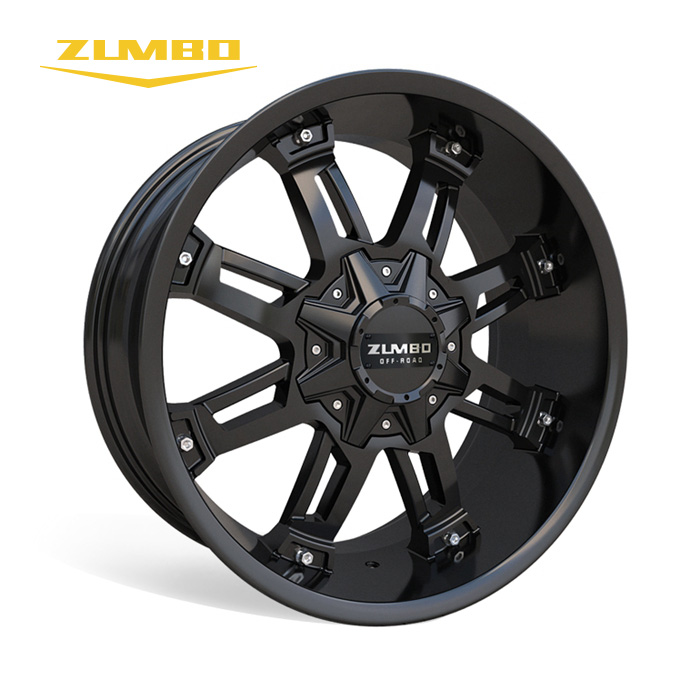 "Zumbo-A0080 Black with milling New Design High Quality wheel rim 20"" alloy wheel spacers china alloy wheels"