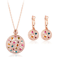 Charm arabic 18k gold plated jewelry set of bridal jewelry set of Italina jewelry from Guangdong