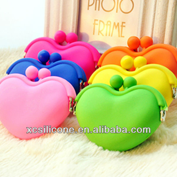 2014 Brand New Top Fashion best seller silicone rubber coin wallet