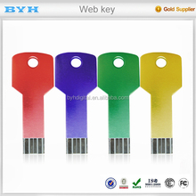 2017 hot product Best price key shape webkey plastic USB flash drive 2.0 card