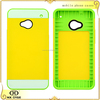 Newest design silicone 3 in 1 cell phone cases for HTC M7