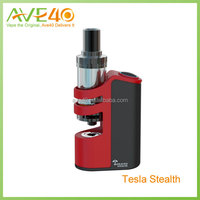 Mini size Teslacigs Stealth Starter Kit 100w TC kit with Tesla Shadow tank