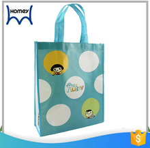 Wholesale children's play mat and toys storage school custom printed tote laminated nonwoven bag