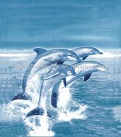 panel print dolphin fleece blanket